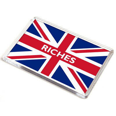DOOR PLAQUE - Riches - Union Jack Flag - Surname Gift