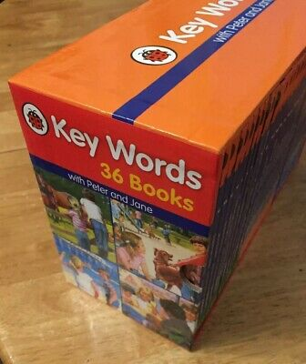 Ladybird Key Words with Peter & Jane reading scheme: Full set of 36 books