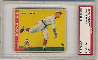 WAITE HOYT 1933 Goudey Gum #60 PSA 4 VG-EX PITTSBURGH PIRATES YANKEES HOF Prewar