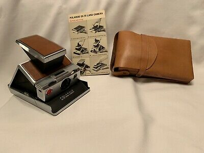 Vintage Polaroid SX-70 Land Camera with Leather Case UNTESTED
