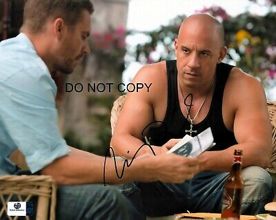 Vin Diesel Signed 8x10 Autographed REPRINT PHOTO Fast & the Furious RP