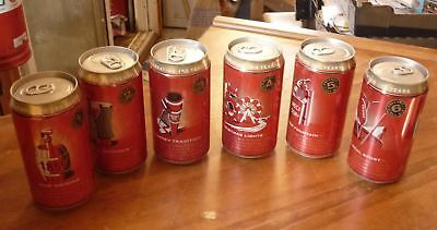 OLD AUSTRALIAN BEER CANS, SET OF 6 WEST END DRAUGHT SA 150th ANNIVERSARY