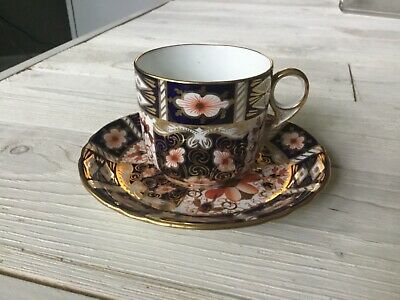 New Antique 1917 Flat Cup & Saucer Set Traditional Imari by ROYAL CROWN DERBY