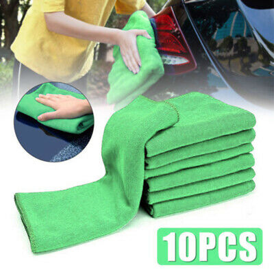 25*25cm Towel Green Rinse Reuse 10PCS Microfiber Washing High quality Durable