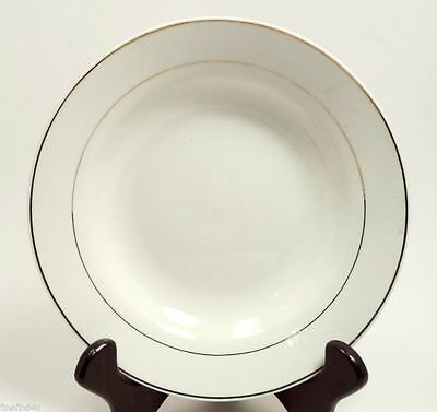 Gibson Housewares China Tuxedo Gold 2  Soup Ceral Rim Bowls