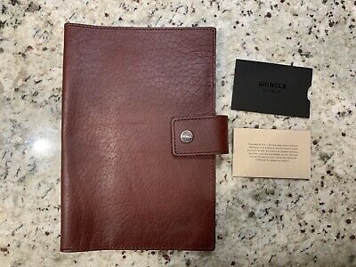 New! $195 SHINOLA Detroit Med Burgundy Leather Journal Ipad Mini Cover.