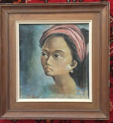 1960/70s portrait by an Indonesian artist