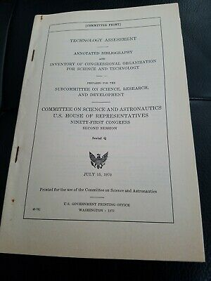 Technology Assessment  Annotated Bibliography and Inventory of Congressional...