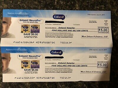 Enfamil Neuropro coupons worth $10 (Exp. July 31, 2019)