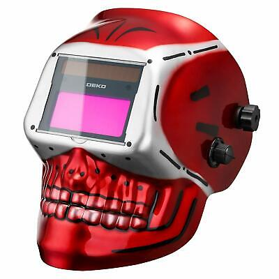 DEKO Auto Darkening Hood Welding Helmet Solar Powered w Adjustable Shade Range