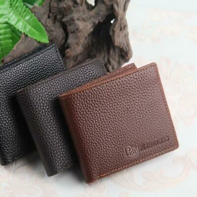 Men's Faux Leather Bifold Wallet Credit Card Coin Holder Casual Purse Pockets