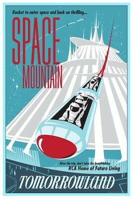 Tomorrowland Space Mountain Astronauts - Collector Poster 4 Sizes  (B2G1 Free!!)