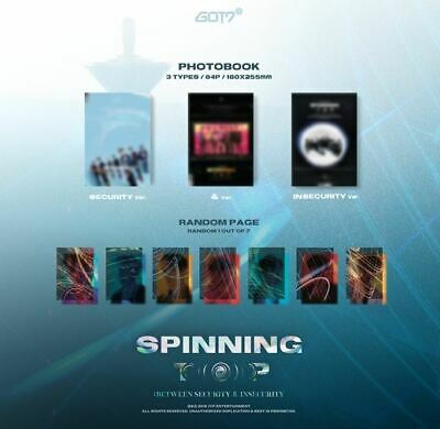 Got7 Spinning Top K-Pop Cd + 2 Photocard + Special Card Set + Folded Poster New