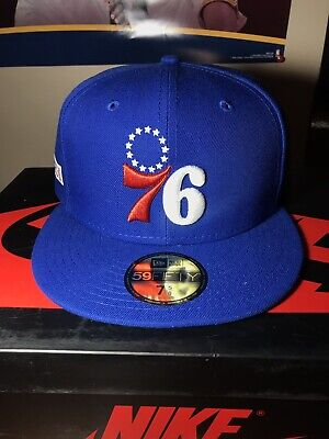 finest selection 0a7c1 c5647 NEW Philadelphia 76ers 2019 NBA Playoffs New Era 59fifty Size 7 5 8 Fitted  Hat