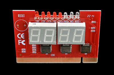 Computer Motherboard Diagnostic Cards LED 4 Digit Analysis Tester Post Checker