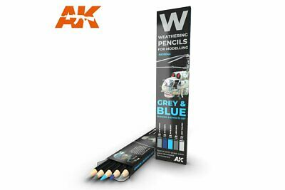 AK Interactive AK10043 Pencils GREY & BLUE: SHADING & EFFECTS SET
