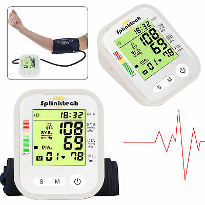 Portable Auto Digital Upper Arm Blood Pressure Monitor Measurement Machine uk