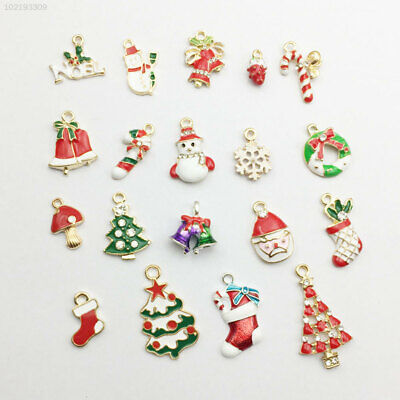 1492 19Pcs/Set Alloy Mixed Christmas Pendant Charm Hanging Party Decor Ornament