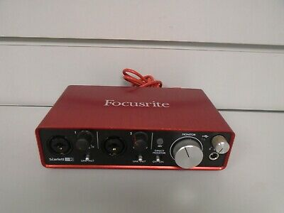 FOCUSRITE SCARLETT 2I2 USB Audio Interface, boxed with cable, driver