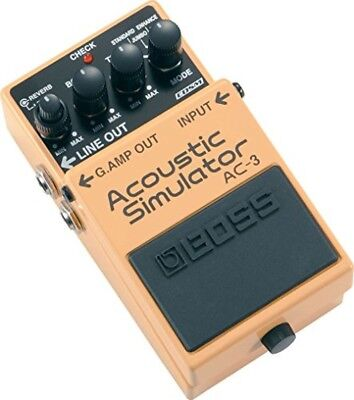 BOSS AC-3 Acoustic Guitar Modeling Simulator Effects Stompbox Pedal New F/S