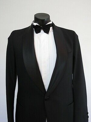 Vintage Dinner Jacket - Tuxedo Jacket With Satin Lapels and Buttons - 1970s