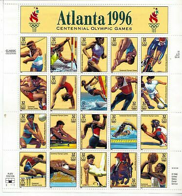 US SCOTT #3068 US SOUVENIR SHEET ATLANTA 1996' 32 CENT MNH - Postage