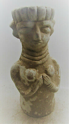 Ancient Early Indus Valley Harappan Terracotta Pillar Figurine 2800-2000Bce