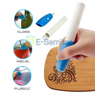 Electric Engraving Pen Mini Engraver Graver Kit Fit for DIY Machine Jewelry Wood