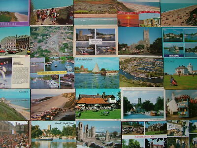 100 Unused Postcards of NORFOLK & THE BROADS. Good - Very good condition.