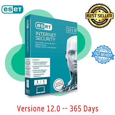 2019 ESET NOD32 Internet Security 🔐1 Years License Key 🔐Instant Delivery  📥