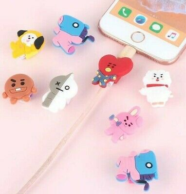 BTS BT21 Character Phone Charge Cable Protector - UK Seller