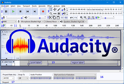 AUDACITY® AUDIO EDITING Studio Pro Music Sound Record Edit