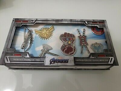 2019 Disney Marvel Avengers: Endgame Pin set of 7 Limited Edition Of 2200