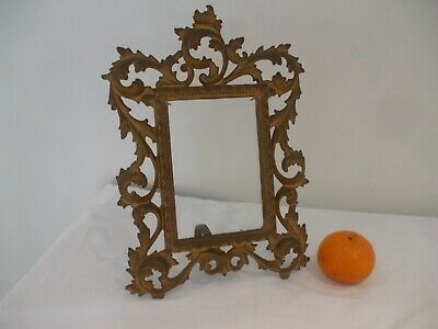 Antique Gilt Metal Decorative Photograph Frame (possibly French)