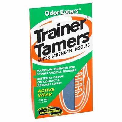 Odor-eaters Trainer Tamers, Odour-destroying, Super Strength Insoles, For Active
