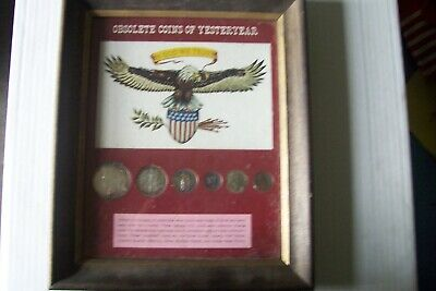 Very  Rare    6  Coins  Of  Obsolete    Coins   Of  Yesterday   90 %  Silver