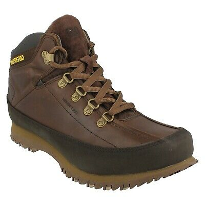 e18516ad9267d CATERPILLAR SHOES MENS Leather Prez Waterproof Brown Lace-up Shoe ...