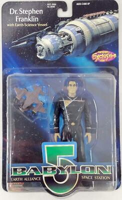 """Exclusive  Babylon 5 To Dr. Stephen Franklin w/Earth Science Vessel - 6"""" Ac VG"""