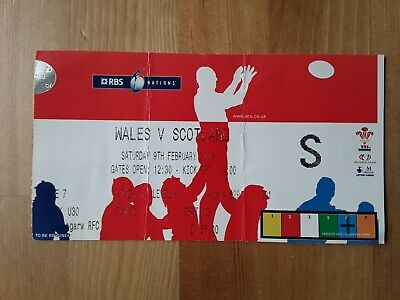 RUGBY UNION MATCH  TICKET - WALES  v SCOTLAND Six Nations 2008