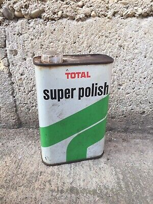 Ancien Petit Bidon Total Polish Collection Deco Garage Vintage