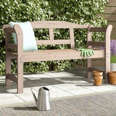 Wooden Garden Bench Outdoor Patio Furniture Seat / Chair Made From Conifer Wood