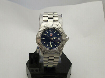 Tag Heuer 2000 Mens Wrist Watch WK1113-0 Stainless Blue Dial 200m rare watch