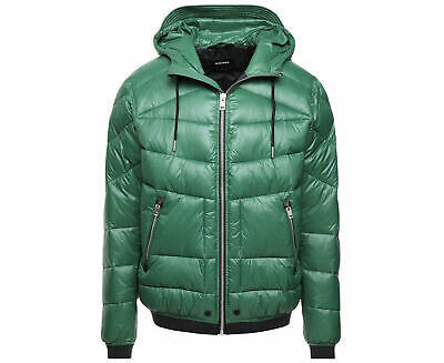 13e9f13db3d DIESEL J-CHIKA MENS Bomber Jacket Size XL Padded Quilted Winter ...