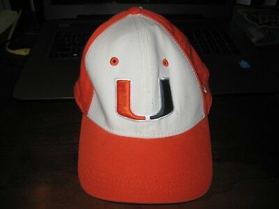 timeless design 74775 913a6 MIAMI HURRICANES HAT  UM  New Era Size M L  Flex Fit