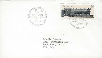 1985 #1072 Canadian Locomotive FDC with Craigellachie,BC cancel