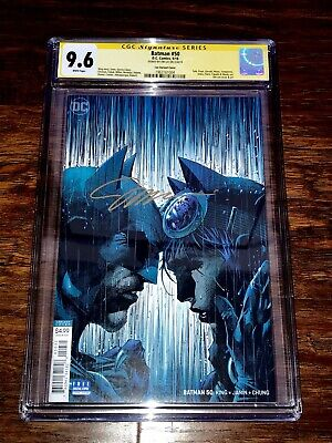 Jim Lee Signed Batman #50 CGC SS 9.6 Gold Auto Catwoman Wedding DC Comic book