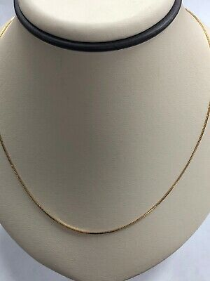 """Gorgeous 14KT Yellow Gold 585 Box Chain - 1 MM Wide, 30.25"""" Long"""