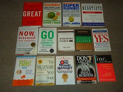Lot 14 Business Books Fish Good to Great Getting Yes Ready Negotiate Freakonomic