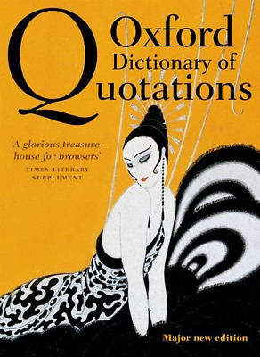 Oxford Dictionary of Quotations 8e, Very Good Condition Book, , ISBN 97801996687