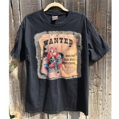 45652adcb VINTAGE HARLEY DAVIDSON Looney Tunes T Shirt Sz S - $19.99 | PicClick